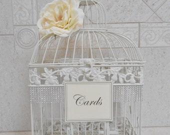 Birdcage Wedding Card Holder | Ivory Birdcage | Wedding Box | Elegant Wedding | Wedding Cardholder | Ivory Card Box