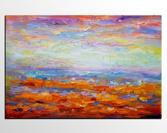 Abstract Landscape Painting, Canvas Painting, Canvas Art, Original Art, Large Art, Abstract Art, Abstract Painting, Wall Art, Landscape Art