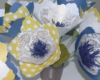 Customizable Paper Flower Wedding Bouquets