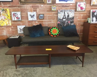 Vintage 1960s Mid Century Modern Walnut Coffee Table By Lane