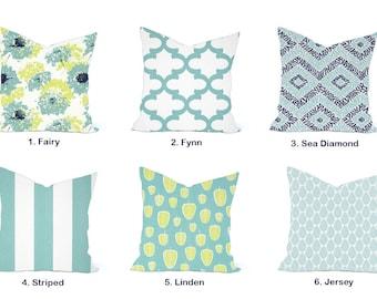 One Premier Prints  Pillow Cover, cushion, decorative pillow, throw pillow, Light Blue Pillow, Floral Pillow