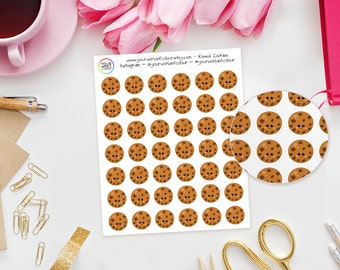 Kawaii Cookie Planner Stickers - perfect for Erin Condren Life Planner, Kikki K, Happy Planner, Journal,  Filofax Planner, food, treat