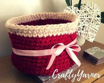 Large Crochet storage basket