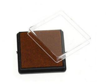 Ink stamp Brown square