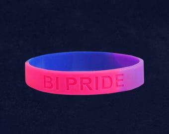 Bisexual PRIDE Silicone Bracelet - Adult Size (RE-SILB-RBBi)
