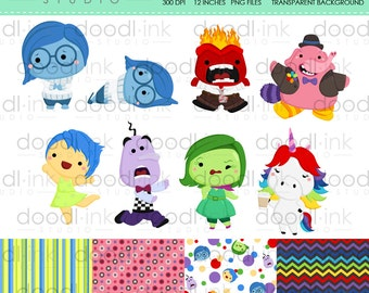 SALE 50%!!! Cute Emotion Movie Digital Clipart / Emotion Clip Art / Digital Paper For Personal Use / INSTANT DOWNLOAD