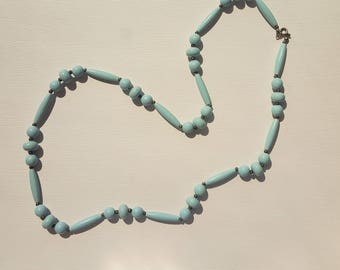 Blue Vintage Lucite beaded necklace