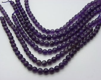 a 93 95 beads 4 mm with hole 1 mm natural purple amethyst