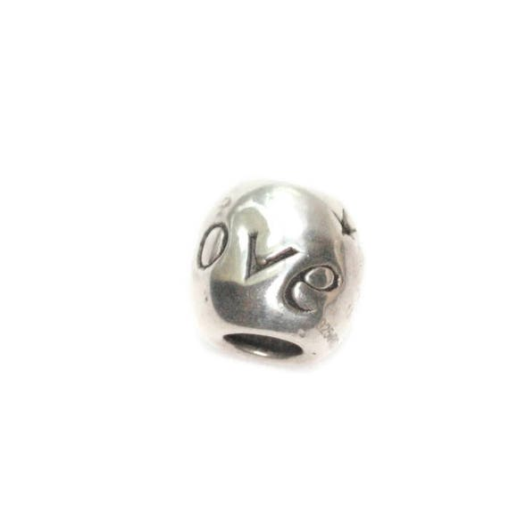 Sterling Silver Love Charm European Style Large Hole Charm RCI 925