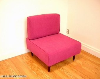 Bokz  Lounge Chair Eames Era Mid Century Classic Design PINK