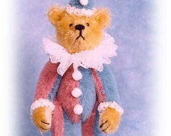 """PDF Pattern & Instructions for Miniature Teddy Bear - Fancy Clown Bear 2 5/8"""" tall -  by Emily Farmer"""