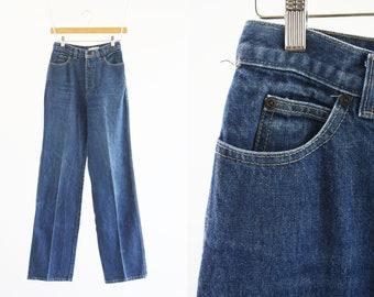 "26"" X 34"": Vintage CALVIN KLEIN Medium Wash High Waist Wide Leg Woman's Retro Jeans"