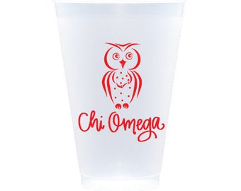 Chi Omega - Reusable Shatterproof Cups (Qty 12)