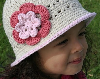 Crochet Summer Hat Pattern  -  No.106 English