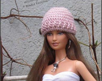 Pink Barbie Doll Hat, Crochet Fashion Doll Hat, Doll Hat, Barbie Clothing, Miniature Hat For Barbie Dolls, Crochet Hat