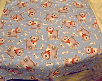 Dog Pattern Receiving Blanket