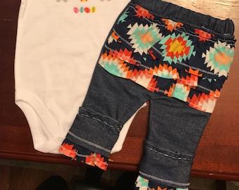Baby Denim Ruffle Bottom Pants
