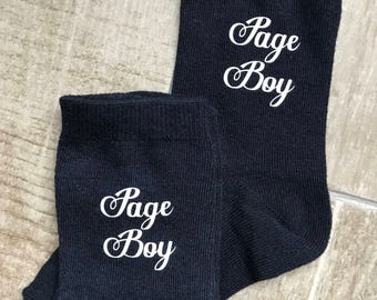 Page boy socks, ring bearer socks, little usher socks, groomsmen socks, bride son socks, navy socks, navy blue socks