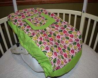 New Pink Ladybug Infant Seat Carrier Cover