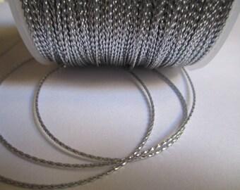 5 m nylon string metallic silver 0.8 mm