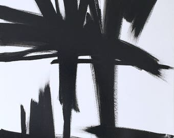 THE KLINE // Franz Kline, Action Painting, Abstract Expressionism, Black and White, Black and White Painting, Abstract Painting
