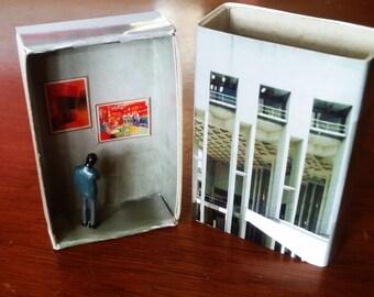 Matchbox Building: Matchbox Miniature of The National Gallery of Australia, Canberra.