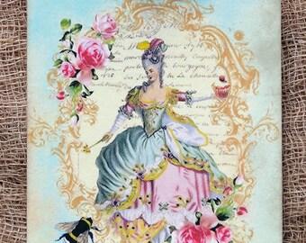 Marie Antoinette Cupcake Bee Gift or Scrapbook Tags or Magnet #278