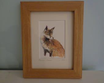 Fox Watercolour Painting, Framed Art, Home Decor, British Countryside Animal Art, Artist Original Gift