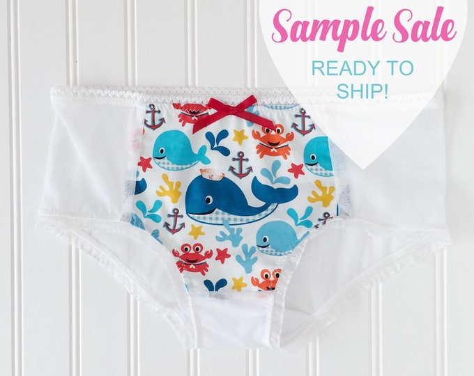 SAMPLE SALE- SIZE Small nautical themed underwear, panty, boyshort DDlg