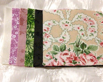 Roses and Ribbons Oh My! 5x5 Quilting Squares