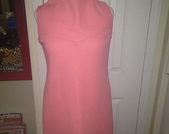 Coral Early 1960's Doris Day Dress