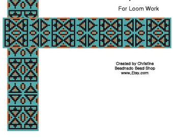 Black and Turquoise Bead Loom Pattern