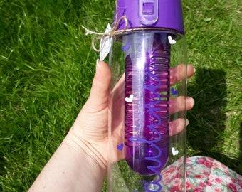 Personalised Drink Bottle, water bottle, fruit infuser, back to school bottle, sports bottle