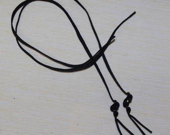 Pair of 6mm wide black elastic adjustable straps.