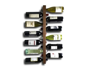 Wine Rack - Wooden Wine Storage - Wood Wine Rack / Handmade Wood Art / Space Organizer / Minimalist Kitchen Bar