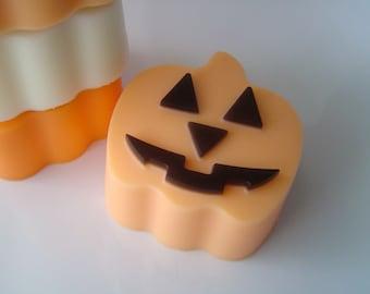 Soap - Classic Halloween Jack-O-Lantern Pumpkin Soap - Goat's Milk Soap - candy corn  Scented