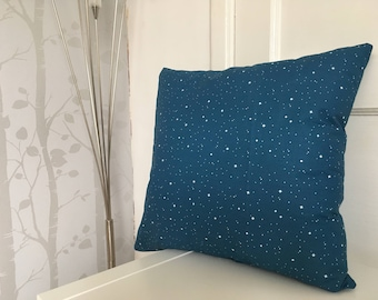 Blue starry night cushion cover