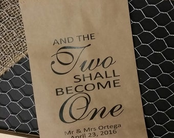 And Two Shall Become One FAVOR BAG