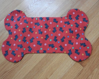 Scotty Dog Fabric Bone Placemat