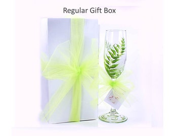 7 Gift Box Kits with Ribbon for Bachelorette Champagne or Wine Glasses 7 Boxes - Wedding Party Bridesmaid Gift Box Glassware Gift Box Kits