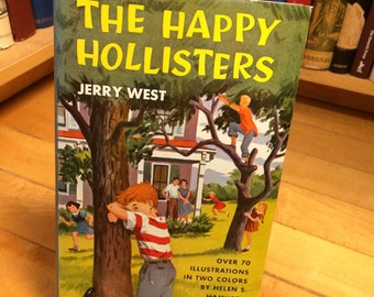 The Happy Hollisters by Jerry West / Vintage Book / Children's Book / Kid's Book / Color Illustrations / Old Book / YA / Adventure / Mystery