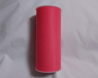 Coral Tulle, Coral Tulle Roll, Coral Tulle 25 yards, 6 inch tulle, 6 inch tulle roll, Tulle, Tulle Fabric, Tutu Tulle, Wedding Tulle
