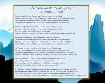 The Bankrupt But Healing Heart - Printable Digital Download