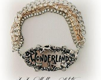 ALICE IN WONDERLAND Multi Strand Bracelet