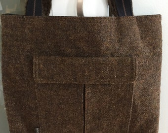 Vintage EUC ORLA KIELY tote style handbag tweedy look British style