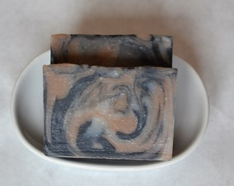 Handmade Soap, Natural Charcoal & Red Clay Cleansing Soap, Cold Process Soap