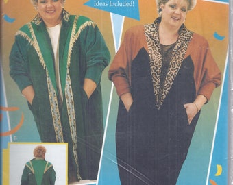 Dates D'signs 3861X  Dolman Duster:  Quilting or wearable art.  Plus Size 1X-2X-3X