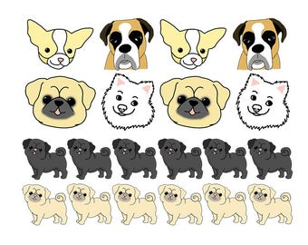 Cute Dog Sticker Pack | Stationery | Stickers