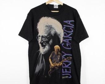 1995 JERRY GARCIA memorial shirt - liquid blue - vintage 90s - grateful dead - deadstock