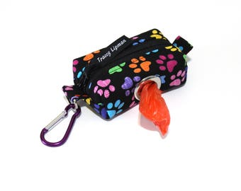 Dog Bag Holder - Leash Bag - Dog Poop Bag Holder - Dog Bag Dispenser  - Poop Bag Dispenser - Dog Waste Bag Holder - gift under 15 - dog gift